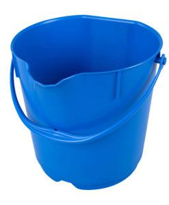 Hygiënische 15ltr emmer met deksel blauw.
