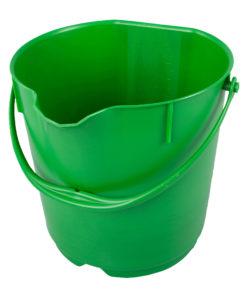 Hygiënische 15ltr. emmer met deksel groen