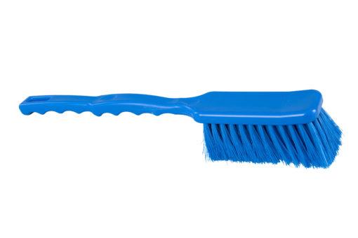Hygiënische brede afwasborstel met lange steel 41cm. blauw