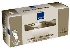 Abena handschoen latex ongepoederd XL wit 100/ds