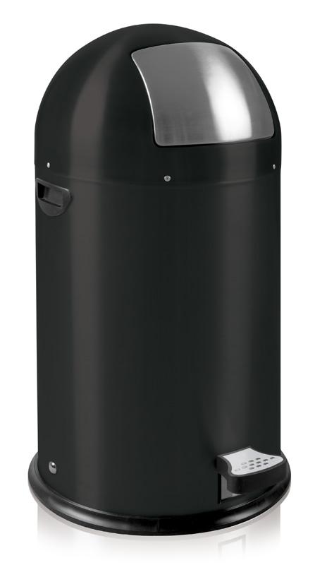 Afvalbak met stevig voetpedaal en verzinkte binnenemmer, inh. 33ltr.