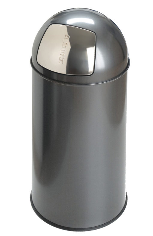 Afvalbak met pushdeksel en metalen binnenemmer, inh. 40 ltr.