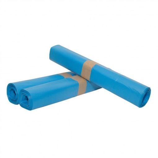 Afvalzak, HDPE,  65/28x140cm, blauw, T30, 1rol à 10st.