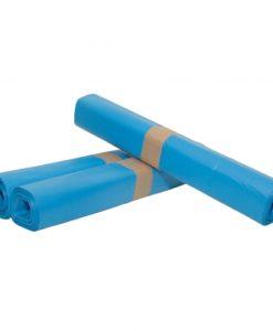Afvalzak, HDPE, 70x110cm, blauw, T25, 1 rol à 20st