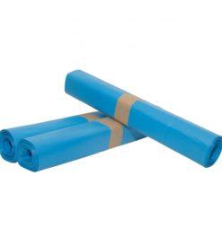 Afvalzak, HDPE, 90x110cm, blauw, T25, 1rol à 20st.