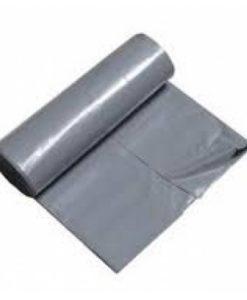 Afvalzak, HDPE, 90x125cm, grijs, T25, 1rol à 20st.