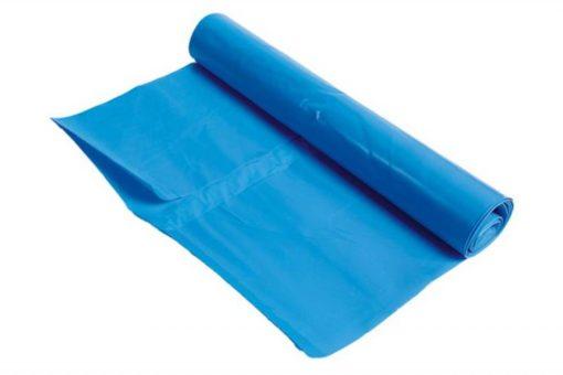 Afvalzak, LDPE,  65/25x140cm, blauw, T70, 1 rol à 10st.