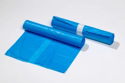 Afvalzak, LDPE, 90x110cm, blauw, T70, 1 rol à 10st.