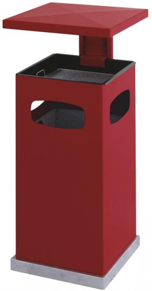 As-Papierbak met afneembaar dak rood 70Ltr.