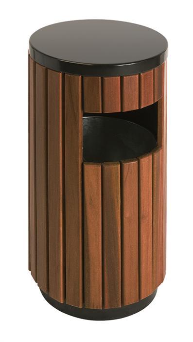 Buitenafvalbak hout look 33Ltr.