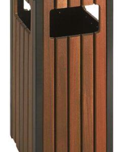 Buitenafvalbak hout look 36Ltr.