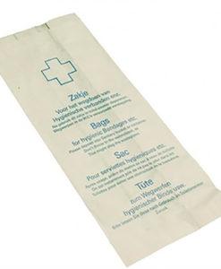 Damesverbandzakken, wit, papier, 1000 st. per doos