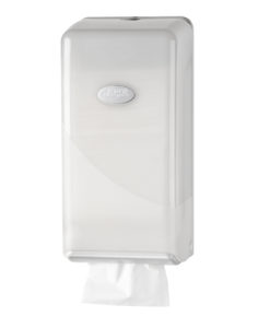 Dispenser bulkpack toiletpapier, wit.