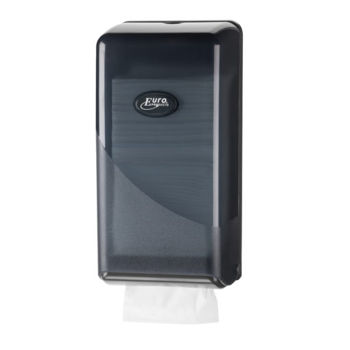 Dispenser bulkpack toiletpapier, zwart.