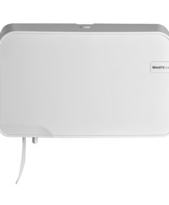 Euro White Quartz duo toiletrolhouder - Coreless