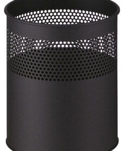 Geperforeerde papierbak zwart 15Ltr.