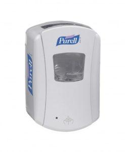 Gojo Purell handzeep dispenser.