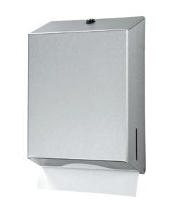 Handdoek dispenser, roestvrijstaal.