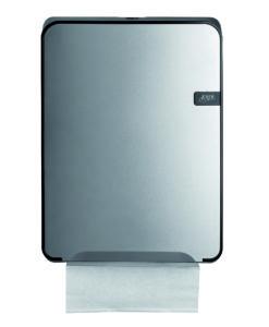 Handdoekdispenser Multifold Quartz-lijn zilver