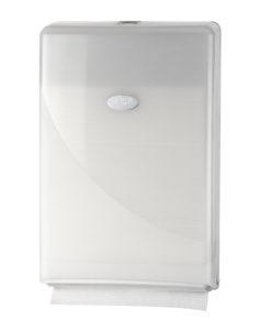 Handdoekdispenser, wit, Minifold.
