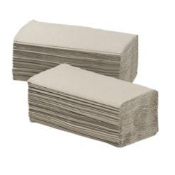 Handdoekpapier Z-vouw crepe natuur, 1-laags, 20pakx250st.