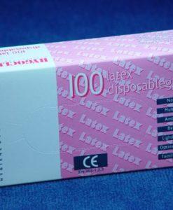 Handschoen latex gepoederd L wit 100/ds