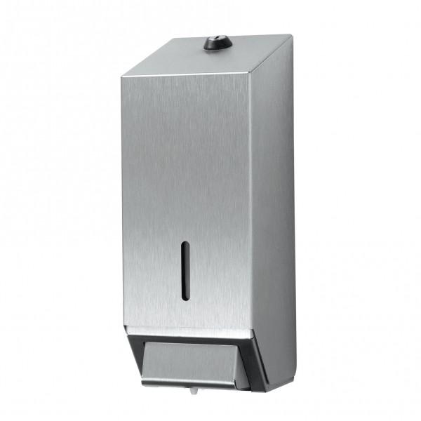 Handzeep dispenser, roetsvrijstaal.