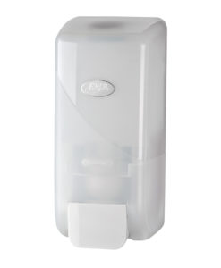 Handzeep dispenser, schuim, wit, inhoud 1000ml.
