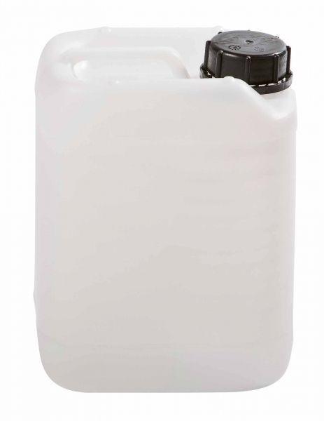 Lege can, 5 liter, transparant, stapelbaar, met dop.