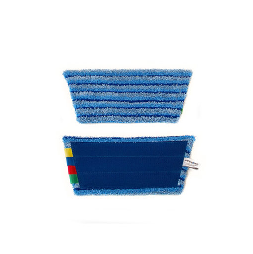 Vlakmop microvezel 28cm blauw scrub