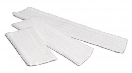 Microvezel vlakmop voor droog gebruik, 45cm, wit.
