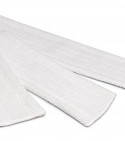 Microvezel vlakmop voor droog gebruik, 63cm, wit.