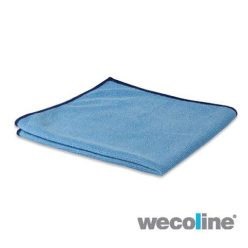 Microvezel reinigingsdoek,gebreid 40x40cm,blauw,10st/pk.