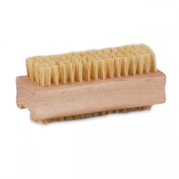 Nagelborstel, hout, fiber, dubbele inzet, 10 st./pak.