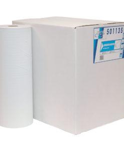 Onderzoek tafelpapier, 1-laags, rec. wit, 150mtrx40cm, 5 st.