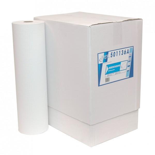 Onderzoek tafelpapier, 1-laags, rec. wit, 150mtrx50cm, 5 st.