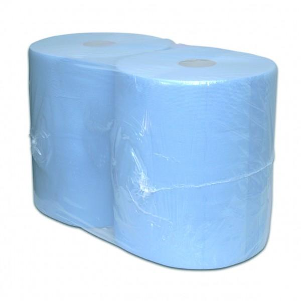 Poetspapier, 2-laags, blauw, 380mtrx37cm, 2 rol p/colli.