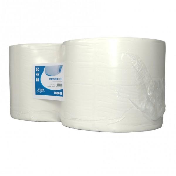Poetspapier, 2-laags, cellulose, 380mtr.x24cm, 2 rol p/colli.