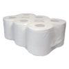 Poetspapier, 2-laags, wit, 150mtr.x20cm.,6 rol p/colli.