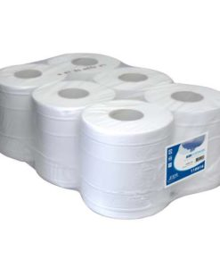 Poetspapier, cellulose verlijmd, 2-laags, 160mtrx20cm, 6 rol p/colli