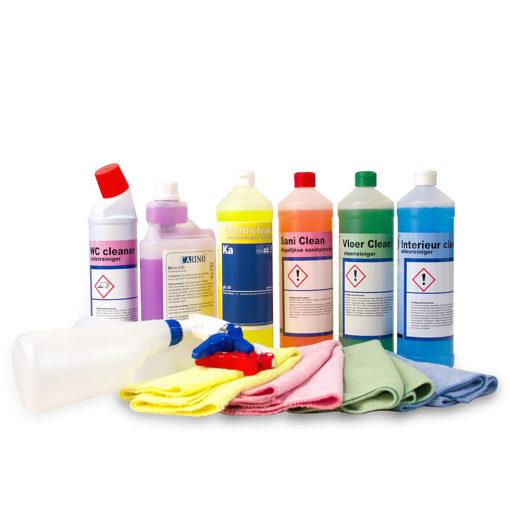 Reinigingsmiddelen set