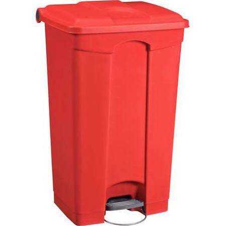 Rode afvalbak met pedaal 80ltr