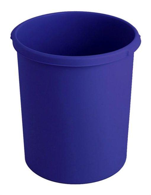 Ronde papierbak blauw 30Ltr.