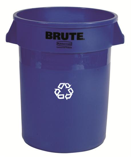 Rubbermaid Brute Container 121Ltr blauw.