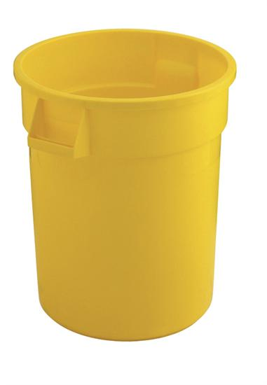 Rubbermaid Brute Container 76Ltr rond geel.