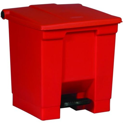 Rubbermaid Step On Container 30L rood.