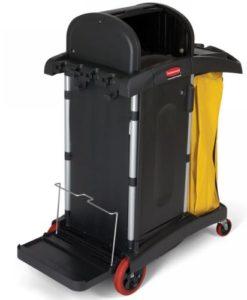 Rubbermaid dichte gesloten Werkwagen voor de gezondheidszorg, polypropyleen/aluminium.