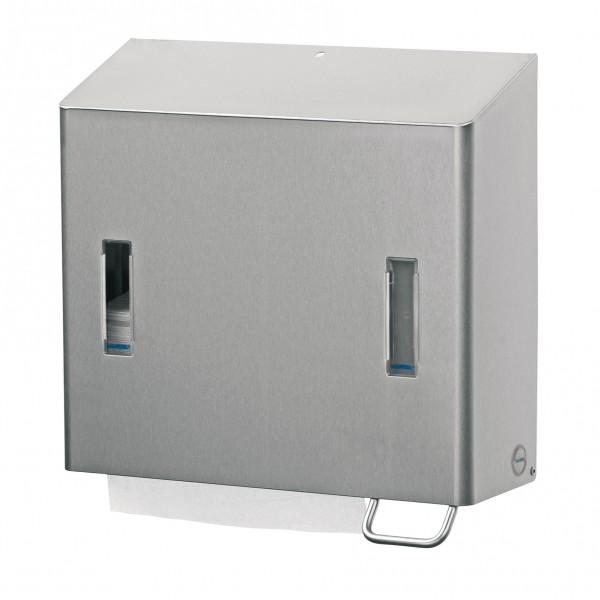 Santral Zeepdispenser + Handdoekdispenser RVS (Combi).