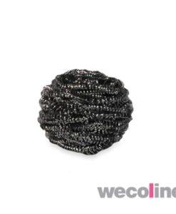 RVS schuurbol, 18 gram, grijs.