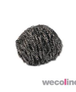 RVS schuurbol, 40 gram, grijs.